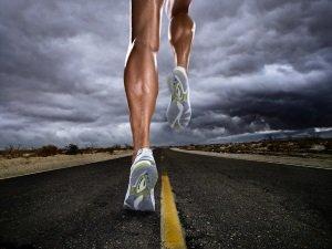 Напряжение мышц при беге