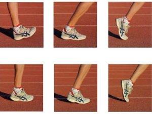 Положение стопы при беге