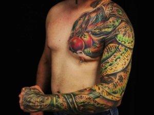 Цветная татуировка на руку