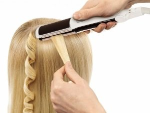 Горизонтальная завивка волос