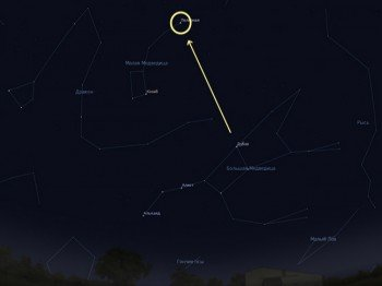 Поиск полярной звезды на карте неба