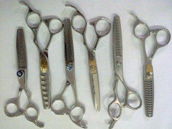 Подготовка ножниц для стрижки