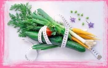Овощи перевязанные сантиметром