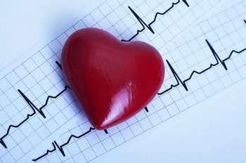 Сердечко на кардиограмме